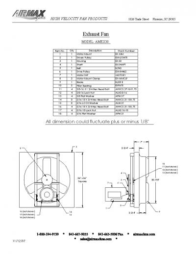 30 exhaust fans parts image