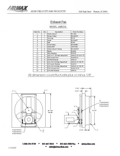 36 exhaust fans parts image
