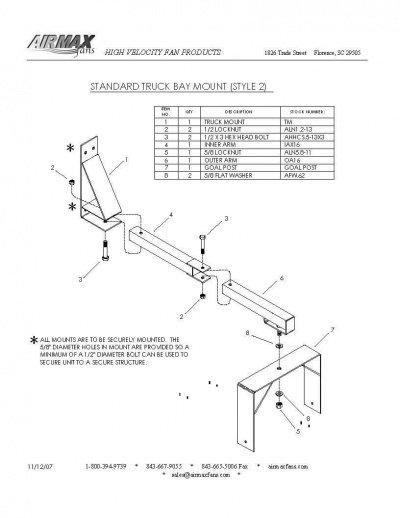 truck bay mount illustration