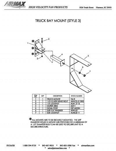 truck bay mount