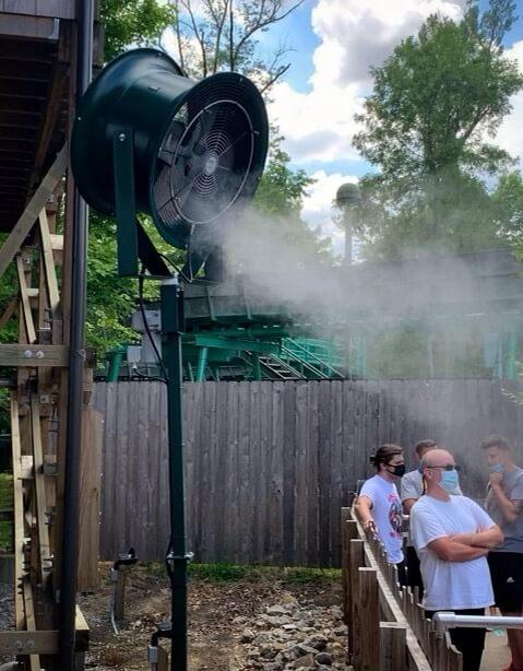 amusement park_misting fans_cooling fans